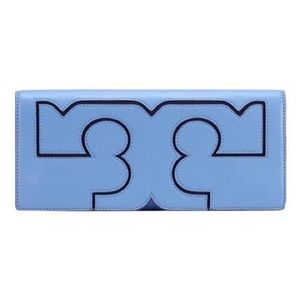 Tory Burch Montego Blue Sarif Clutch NWT
